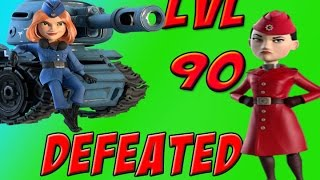 Boom Beach: WAR FACTORY LVL 90 DEFEATED with ALL TANKS?