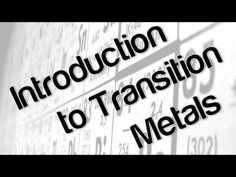 Introduction to transition metals
