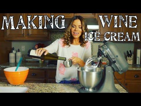 Making Homemade Wine Ice Cream