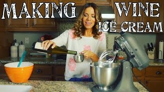 Making Homemade Wine Ice Cream