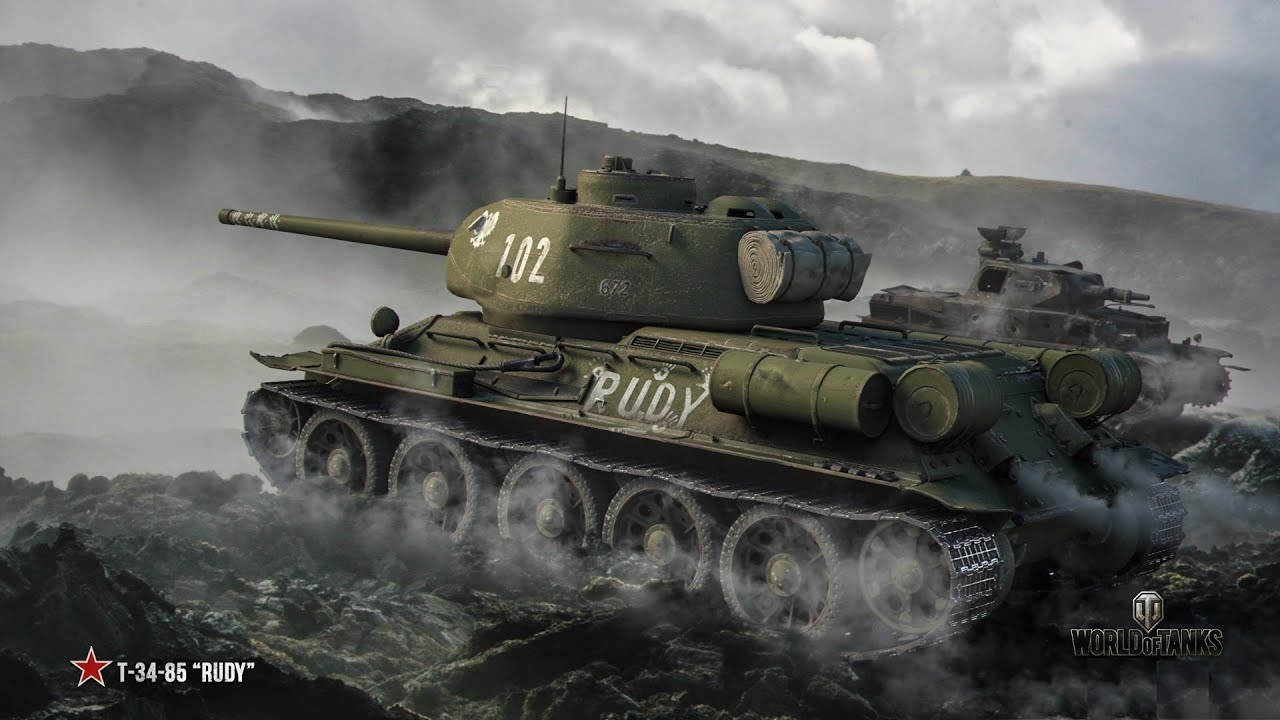 Czołgopedia T 34/85 Rudy! - YouTube