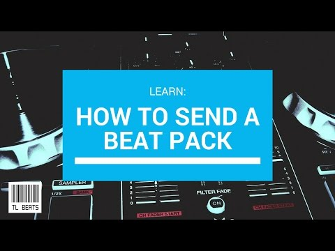 How to send a Beat Pack (upload and share bulk mp3 or wav. files)
