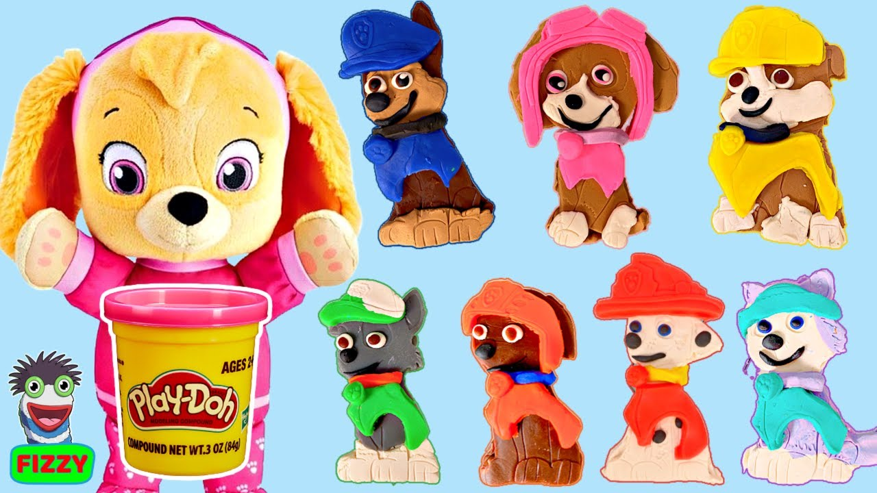 Fizzy's Best Learning Colors Videos for Kids with Play Doh Paw Patrol