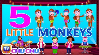 Five Little Monkeys Jumping On The Bed - Nursery Rhymes Karaoke Songs | ChuChu TV Rock 'n' Roll