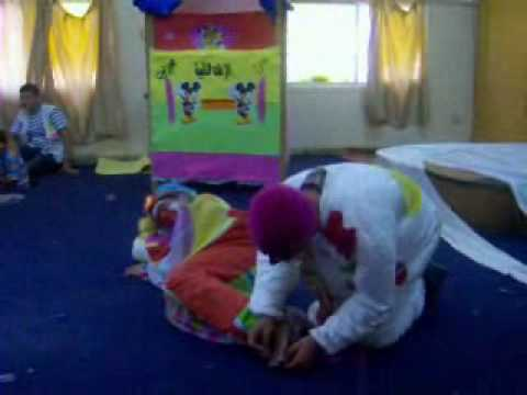 Presentation of the clown of the Task collection Ajam Zaton of Palestinian Medical Relief