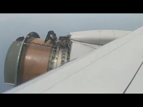 United Airlines jet apparently loses engine covering midflight