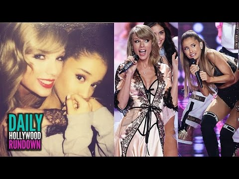 Victorias Secret Fashion Show 2014 BEST MOMENTS- Taylor Swift BFFs Ariana Grande  Wears Lingerie