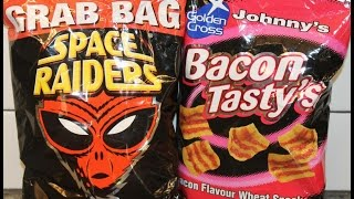 Space Raiders Beef Corn Snack & Johnny's Bacon Tasty's Wheat Snack Review