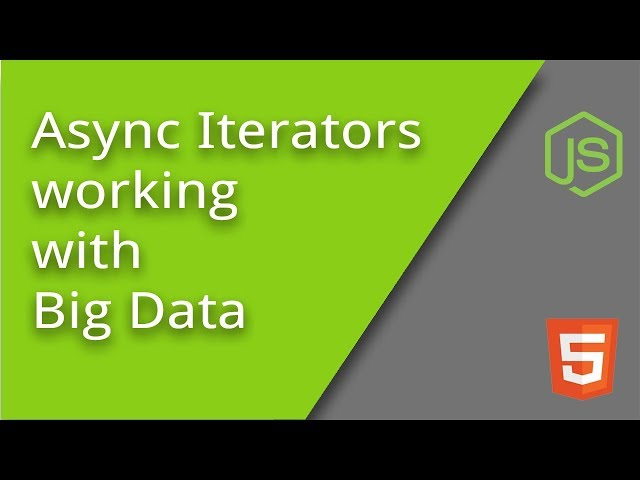 Async Iterators for Big Data Sets