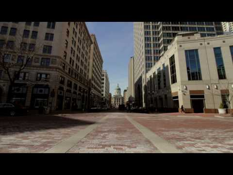 Indianapolis State Building/Monument Circle Timelapse