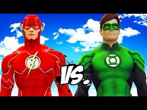 THE FLASH VS GREEN LANTERN - EPIC SUPERHEROES BATTLE