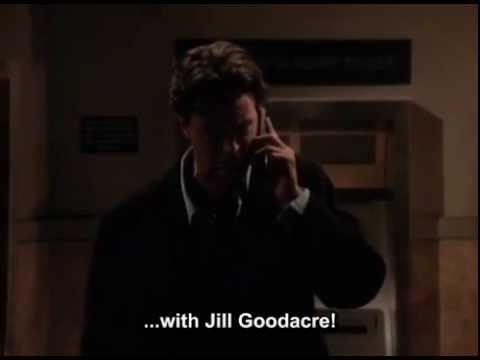 I'm stuck in an ATM vestibule with Jill Goodacre
