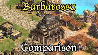 """Aoe2: Barbarossa Campaign Comparison """"Barbarossa's March"""" - Original vs Definitive Edition"""