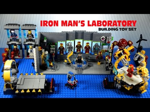 LEGO Iron Man's Laboratory w/ Suit-Up Gantry Building Set Marvel Superheroes