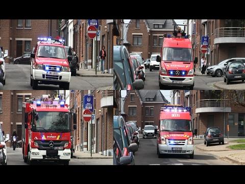Départ Désincarcération - Pompiers Herve + Croix Rouge