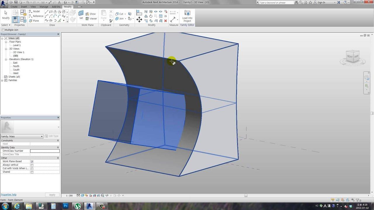 Revit Basic Tutorial -conceptual mass - extrusion - YouTube