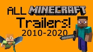 All Official Minecraft Trailers (2010-2020) [NEW VERSION]