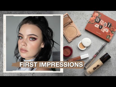 FULL FACE OF FIRST IMPRESSIONS 🖤 | Julia Adams thumbnail