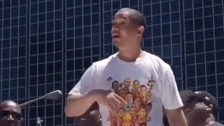 Tyronn lue cant stop dancing at cavs parade lebron james amazed
