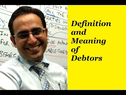 Basic Accounting Terms (Video-13) What are  Debtors?