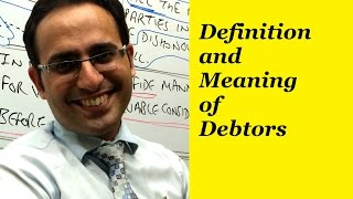 Definition and Meaning of Debtors