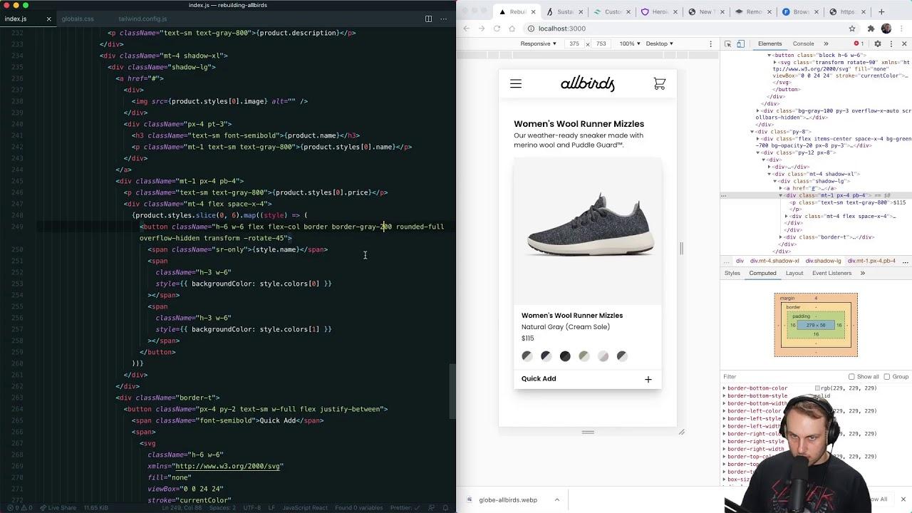 Rebuilding Allbirds.com with Tailwind CSS