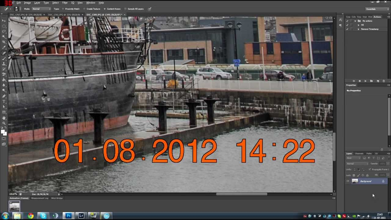 Adobe Photoshop CS6 Tutorial Remove Timestamps From Photos Content