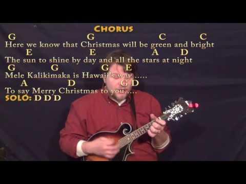 Mele Kalikimaka (Christmas) Mandolin Cover Lesson in G with Chords/Lyrics