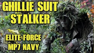 DesertFox Airsoft: Ghillie Suit Stalker (Elite Force MP7 Navy Gas Blow Back)