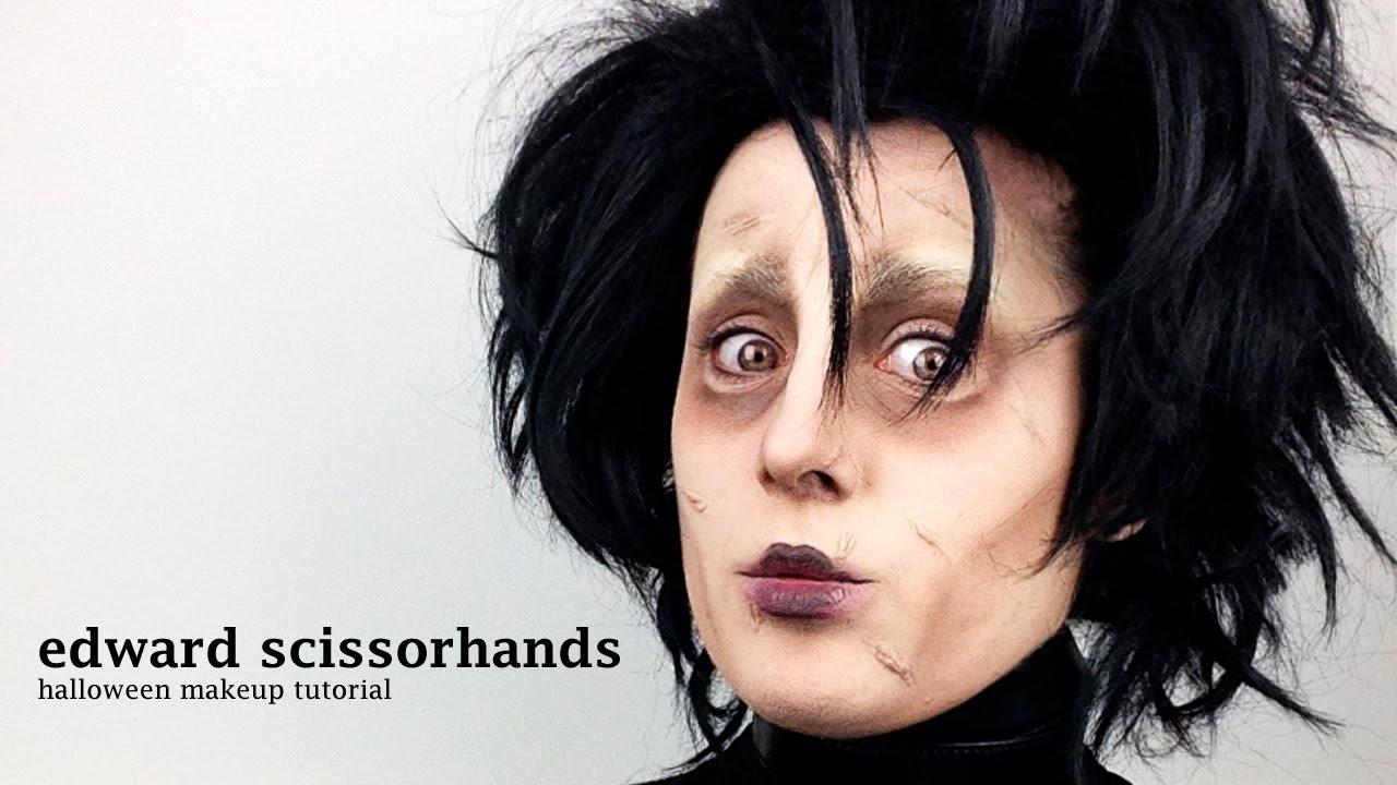 Edward Scissorhands - Halloween Makeup Tutorial (by Jen Pike) - YouTube