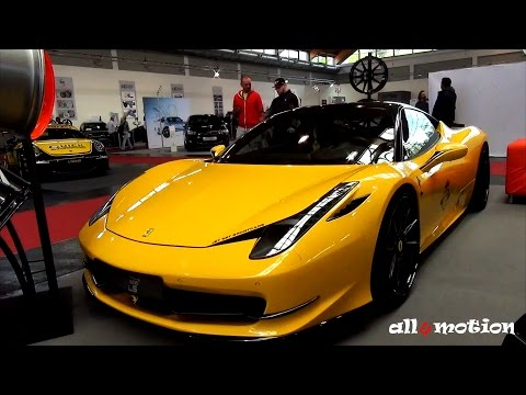 Ferrari 458 Italia Elegance Wheels black & yellow by Jet Set Sportcars