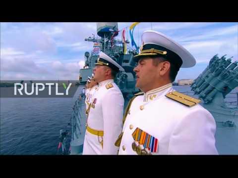 Große Parade der Russischen Marine in St. Petersburg 30 07 2017