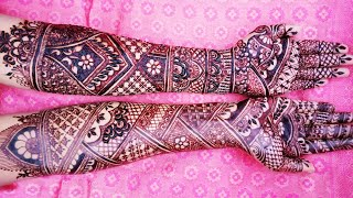 Both Hands Bridal Mehndi Design | Full Hand Dulhan Mehndi Design | Shimmi