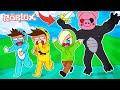 ¡¡EL GORILA PIGGY GIGANTE ATACA DE NUEVO!! ESCAPE DEL MONO ASESINO ROBLOX 💙💚💛 BEBE MILO VITA ADRI 😍