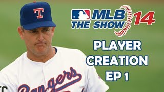 PLAYER CREATION - MLB 14: The Show - Nolan Ryan: Road to the Show - Episode 1