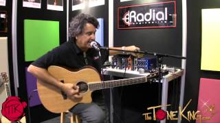 RADIAL PZ-DI for Piezo Pickups to Mixing Board! NAMM 2013