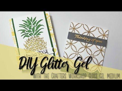 DIY Glitter Gel
