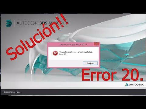 """Solución - 3Ds Max """"The software license check out failed. Error 20"""""""