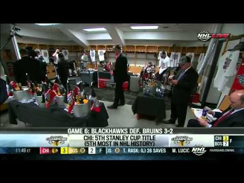 Blackhawks Enter the Locker Room After Winning the Stanley Cup – June 24th, 2013