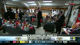 Blackhawks Enter the Locker Room After Winning the Stanley Cup - June 24th, 2013
