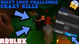 SHIFT LOCK CHALLENGE (ROBLOX ASSASSIN) *CRAZIEST TRICKSHOTS EVER & TRADES*