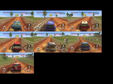 Colin McRae Rally 2005 Australia Stage 8 Compare 7 Cars (4WD)