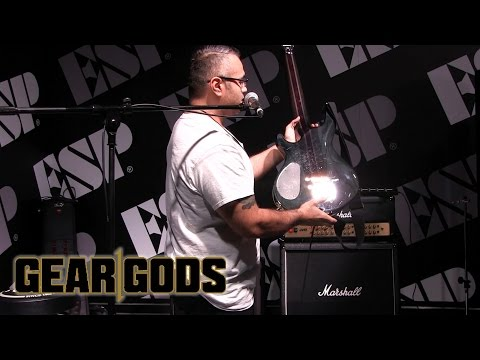 JAVIER REYES (Animals As Leaders / Mestis) Shows His ESP Guitar and Performs NAMM 2016| GEAR GODS