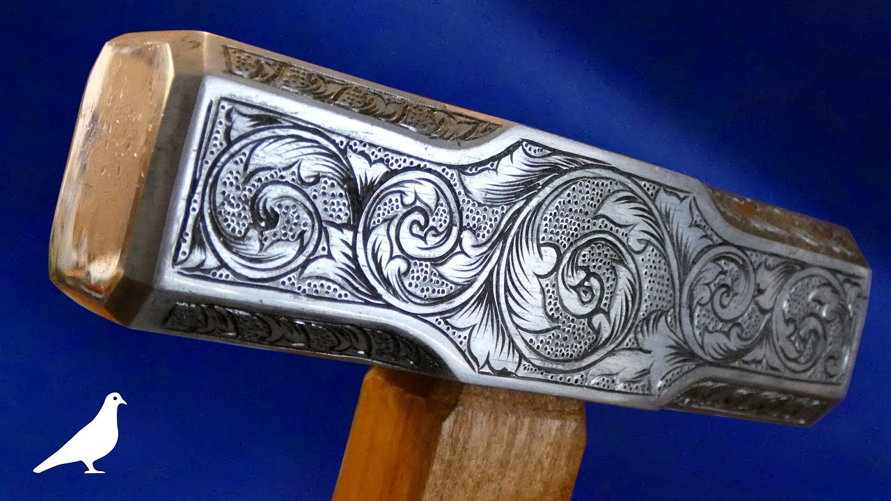 How To Make a Hand-Engraved Hammer with Simple Tools - YouTube ba0506e5a