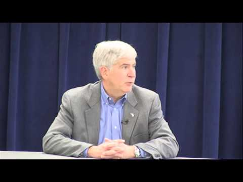 Governor Rick Snyder Speaks to Media about Detroit Financial Report