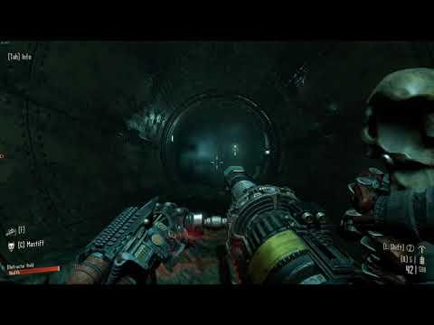 Necromunda: Hired Gun: The 'spooky' level. |