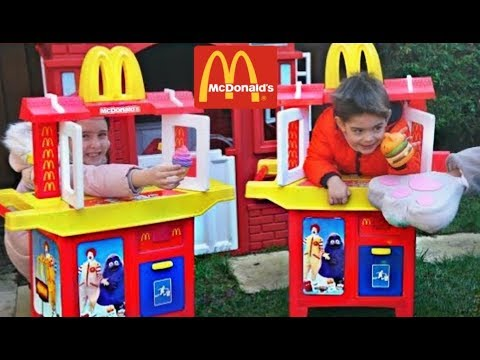 Mcdonald S Kids Pretend Play Toy Kitchen Paw Patrol With Little Bus