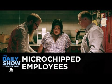 Microchipped Employees in Wisconsin | The Daily Show