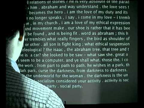 David Link - Poetry Machine, Interactive Installation  2002