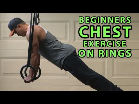 Beginners Chest Workout On Gymnastics Rings
